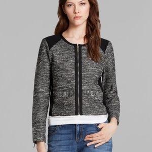 Eileen Fisher Black Ponte Tweed Jacket